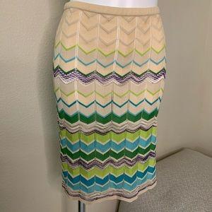 Authentic Missoni Women's Knit Chevron Skirt